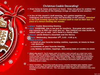 Staff Cookie Decorating