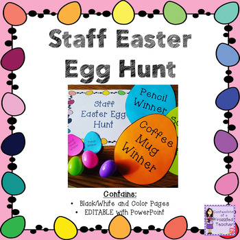Staff Easter Egg Hunt Activity - Sunshine Committee Activity