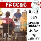Staff Education Handout: Speech Therapy