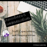 Staff Expectations and Guidelines