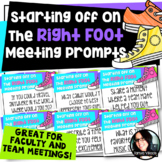 Staff, Faculty, and Team Meetings Conversations Starters a