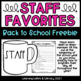 Staff Favorites Back to School Morale Fun Coworker DIY Gif
