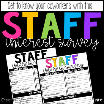Staff Interest Survey