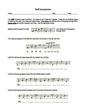 Staff Introduction Lesson and Worksheet