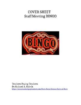 Staff Meeting BINGO!