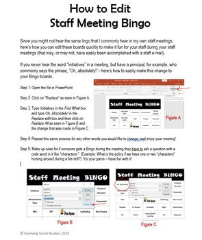 Staff Meeting Bingo - Terms and Buzzwords Used in Education - 30 Boards!