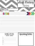 Staff Meeting Notes Page