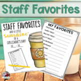 Staff Sunshine: Staff Favorites Booklet
