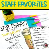 Staff Morale | Staff Favorites Booklet