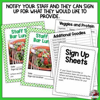Staff Sunshine:  Staff Salad Bar Luncheon