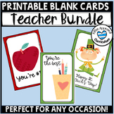 Staff Morale Boosters Blank Cards Bundle