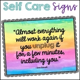 Staff Morale Boosters Self-Care Signs