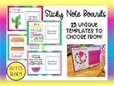 Staff Morale - Sticky Note Boards