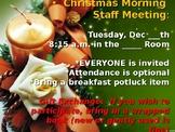 Staff Mtg Breakfast and Book Exchange