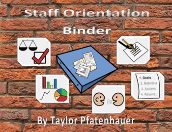 Staff Orientation Folder