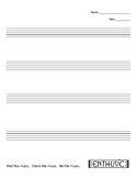 Staff Paper - 4 Staves  (MUSIC)