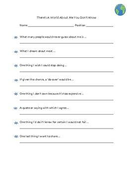 Staff Questionnaire--get to know your colleagues even better!