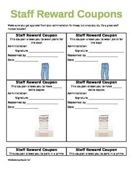 Staff Reward Coupons