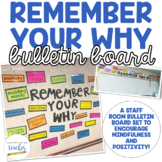 Staff Room Bulletin Board Set {Remember Your Why}