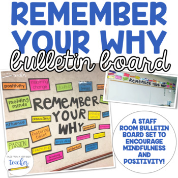 Staff Room Bulletin Board Set Remember Your Why English And Spanish