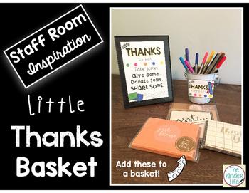 Staff Room FREEBIE Little Thanks Basket