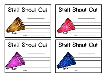 Staff Shout Out