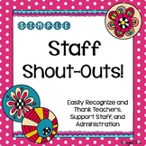 Teacher and Staff Appreciation