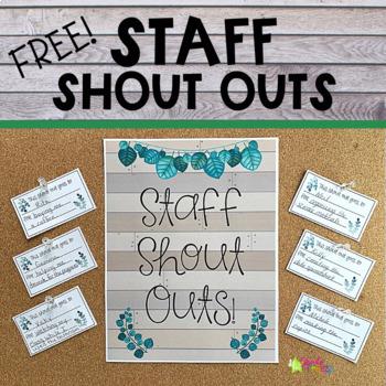 Staff Shout Outs Freebie