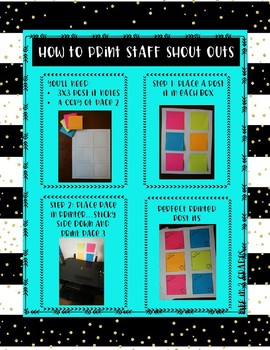 Staff Shoutout Stickies {For Post-It Notes}