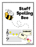 Musical Staff Spelling Bee