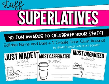 Staff Superlatives: Fun Awards for Faculty by Michelle ...