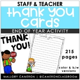 Staff/Teacher Thank You Letters