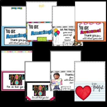 Staff Thank You Notes or Cards