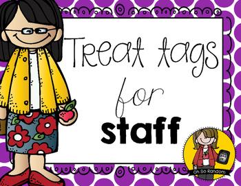 Staff Treat Tags