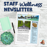 Staff Wellness Newsletters | Teacher Self Care | Wellness