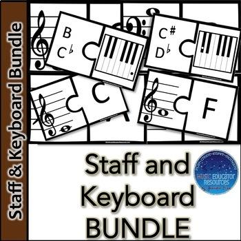 Staff and Keyboard Note BUNDLE