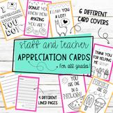 Staff and Teacher Appreciation Cards