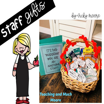 Staff and Teacher Gift Tags