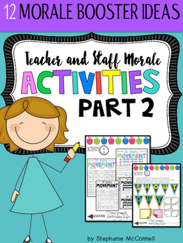 Staff and Teacher Morale Activities Part 2