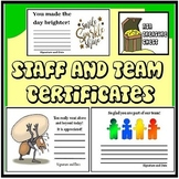 Staff and Team Certificates, ABA, encouragment, award, Teacher Appreciation