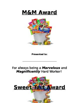 Staff or Student Candy Awards