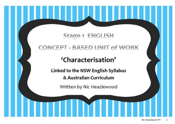Stage 1 Concept Based English Unit
