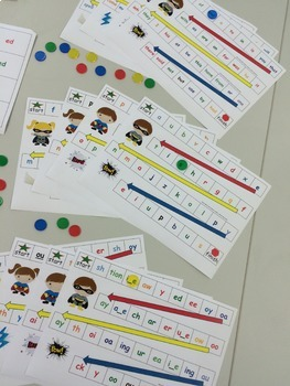 Stage 1 Differentiated Phonics and Word Work Games - Super Hero Theme