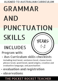 Stage 1 Grammar and Punctuation EDITABLE Program Template