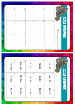 Stage 1 Money - Adding Coins - Working Mathematically (Task Cards)