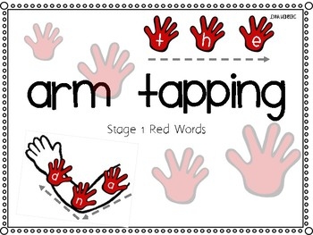 Stage 1 Red Words Arm Tapping Visual + Flash Cards