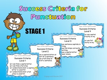 Stage 1 Success Criteria for Punctuation