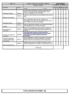 Stage 3 English Student Tracker