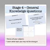 Stage 4 Skill Math Task Cards - 60 Questions