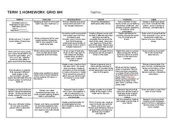 Stage 3 Homework Grid